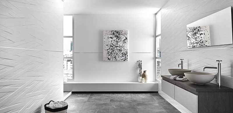 Azulejos de baño blanco