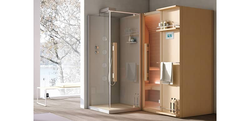 sauna y ducha